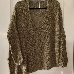 Free People sweater with bias cut size M